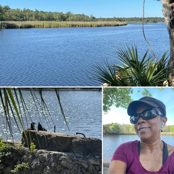 Rosalind taking a Hope Break at St. Mark's River in North Florida